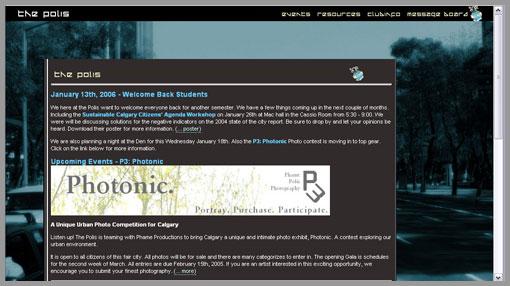The Polis Website - circa Sept 2005