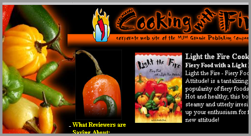The Old Cooking With Fire Web Site
