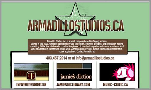 Old Armadillo Web Site