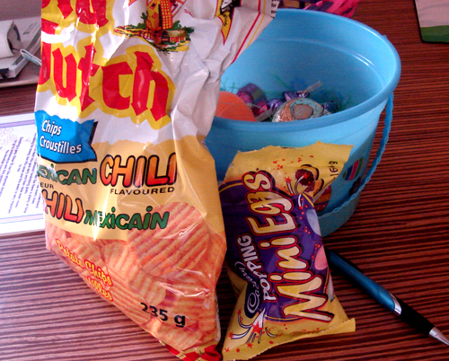 Mexican Chili Chips & Popping Mini Eggs