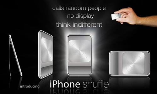 iPhoneShuffle Mock-up (from Wired Magazine)