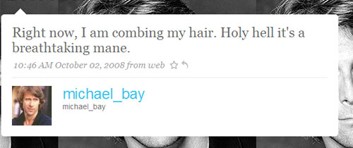 Michael Bay - the Twitter Account