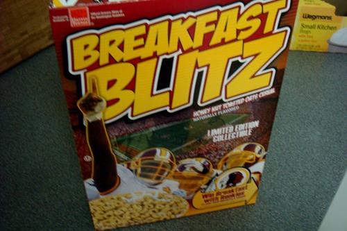 RedSkins Breakfast Blitz Cereal