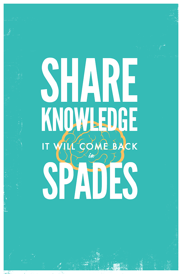 Share Knowledge | It Will Come Back in Spades