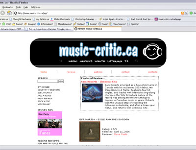 Music-critic.ca Old CSS theme