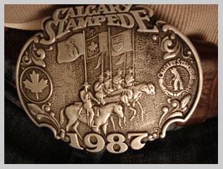 Calgary Stampede 1987 Belt Buckle